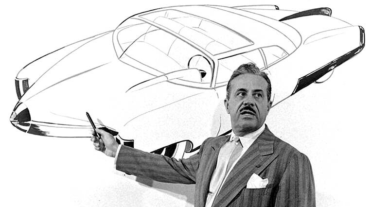 Raymond Loewy Presenting A Car