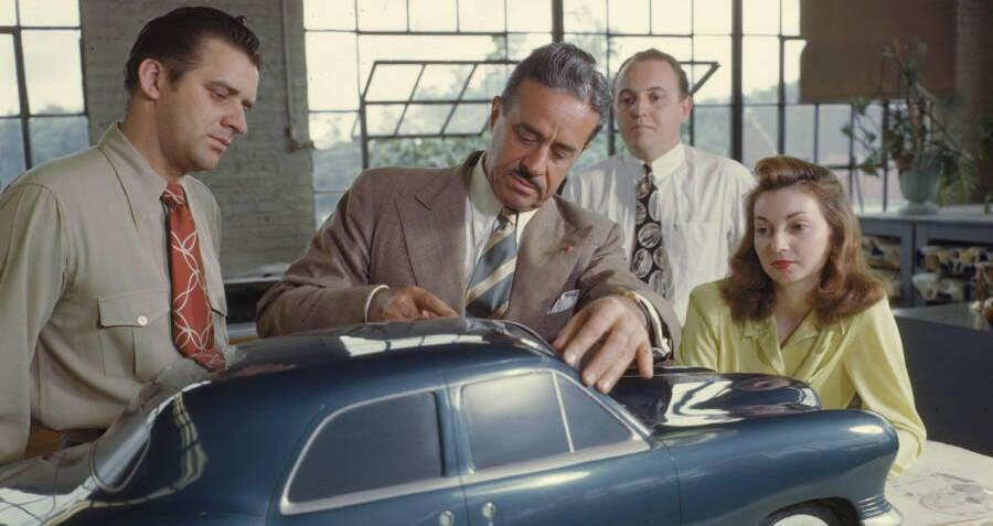 Raymond Loewy Working On A Car