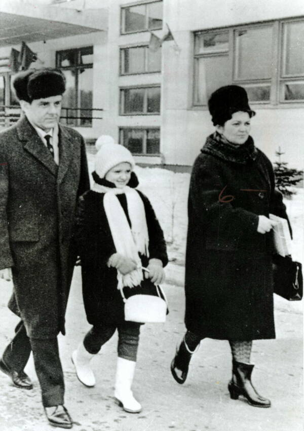 Vladimir Komarov And Family
