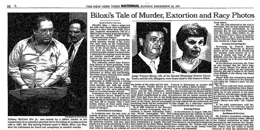 Murder Of Vincent Sherry