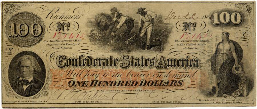 Confederate 100 Bill