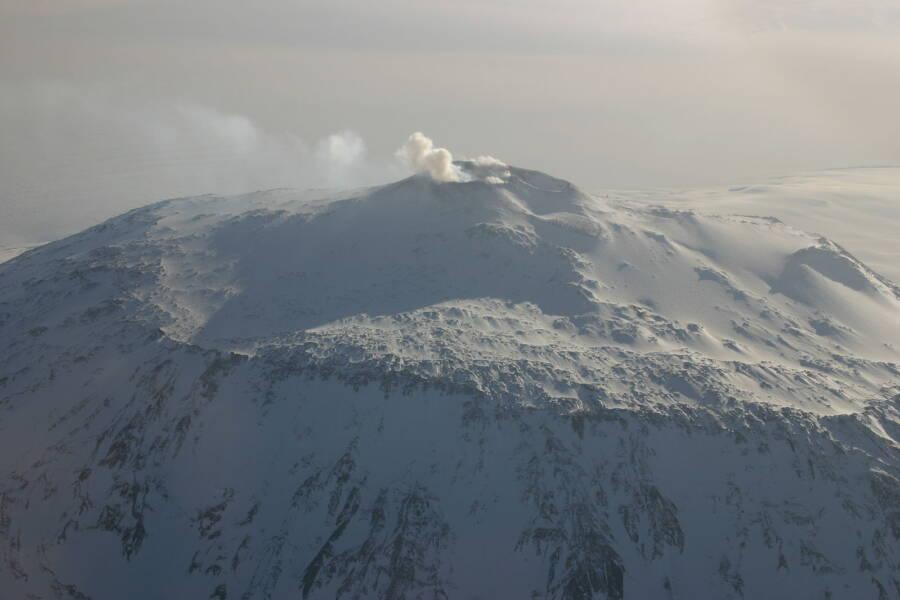 Mount Erebus On Ross Island
