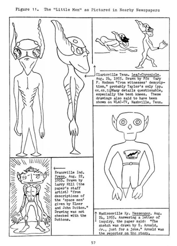 Newspaper Alien Illustration