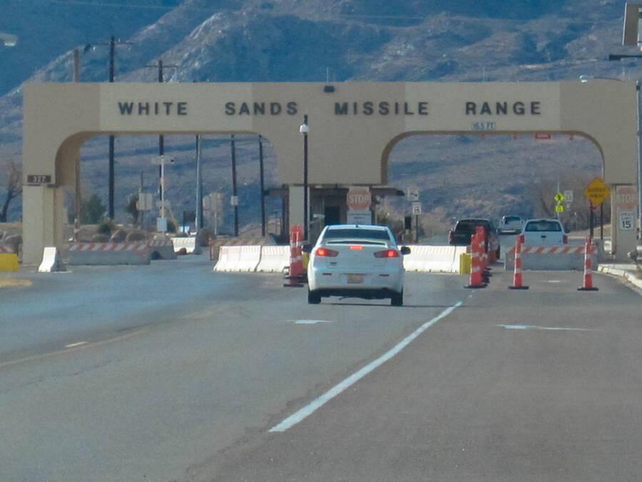 White Sands Missile Range Entrance