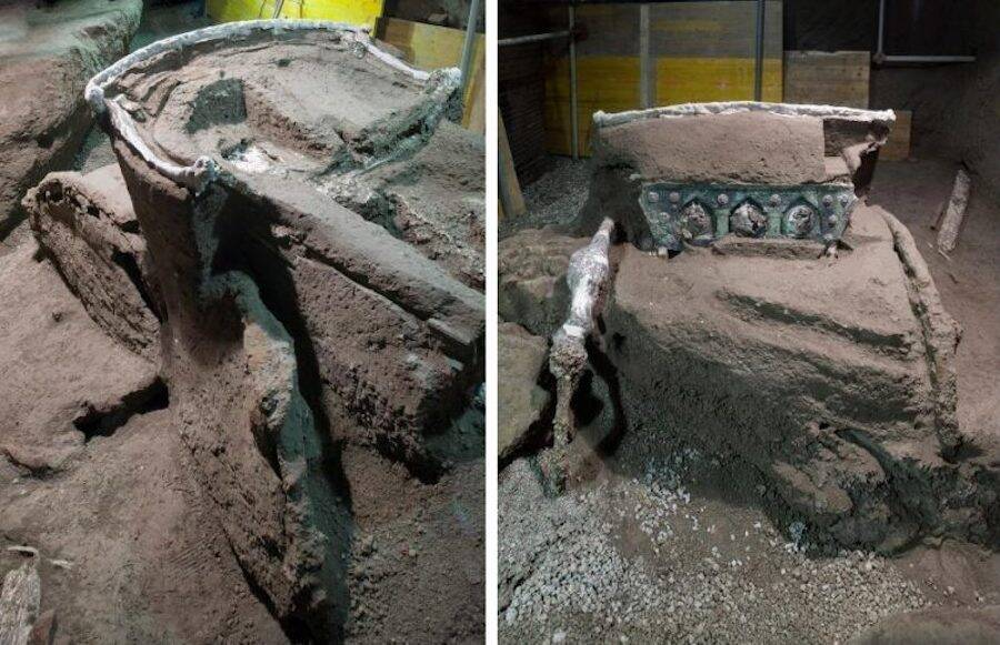 Ancient Chariot In Pompeii
