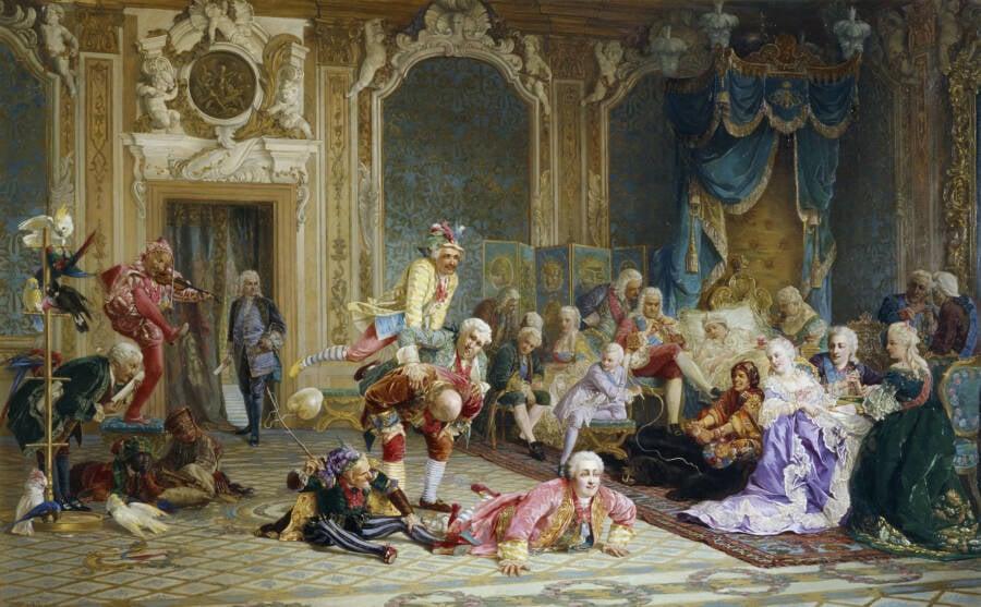 Empress Ivanovna Watching Jesters