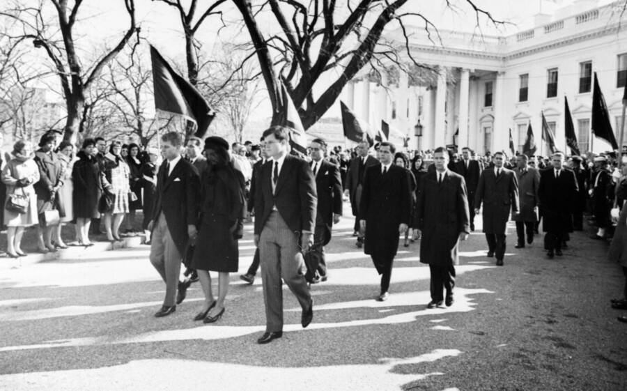 Kennedy Family During JFK Procession