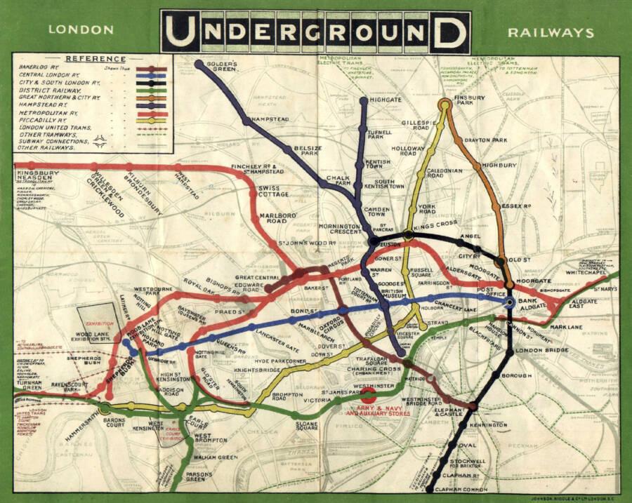 London Tube In 1908