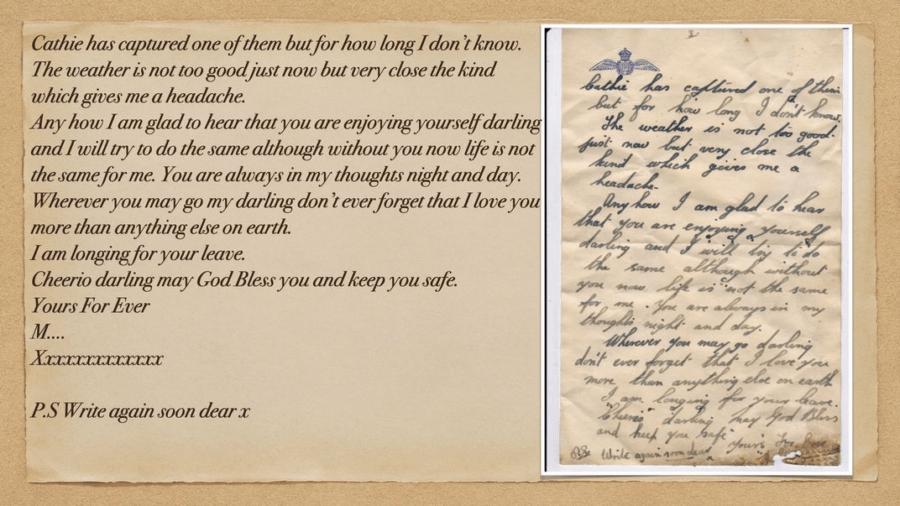 Love Letter Written During Ww2