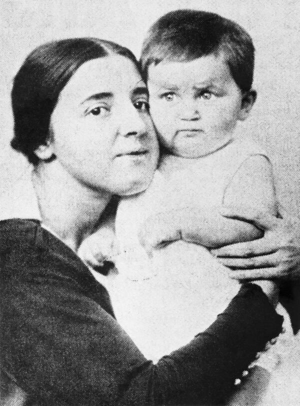 Nadezhda Alliluyeva And Vasily Stalin
