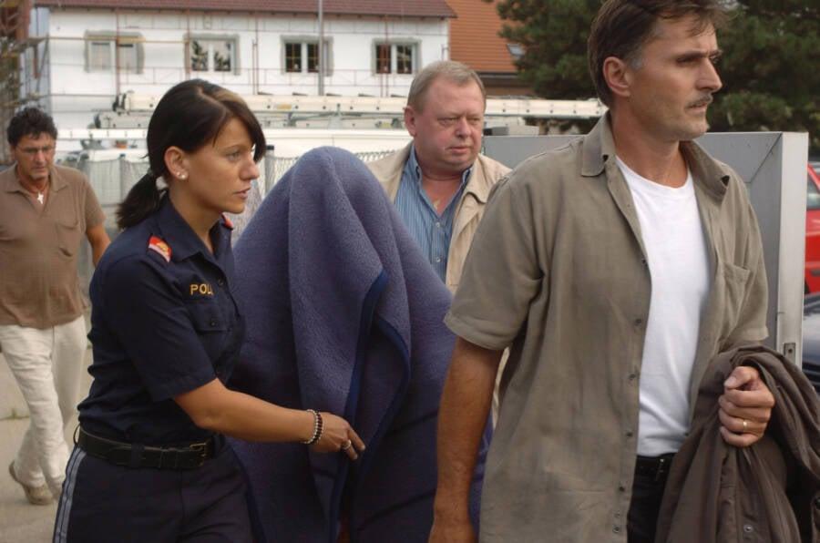 Natascha Kampusch Being Escorted