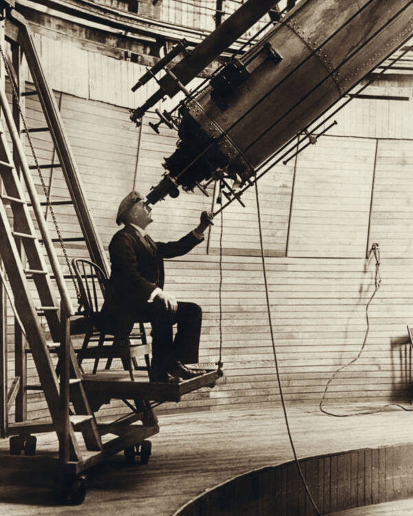 Percival Lowell At His Observatory