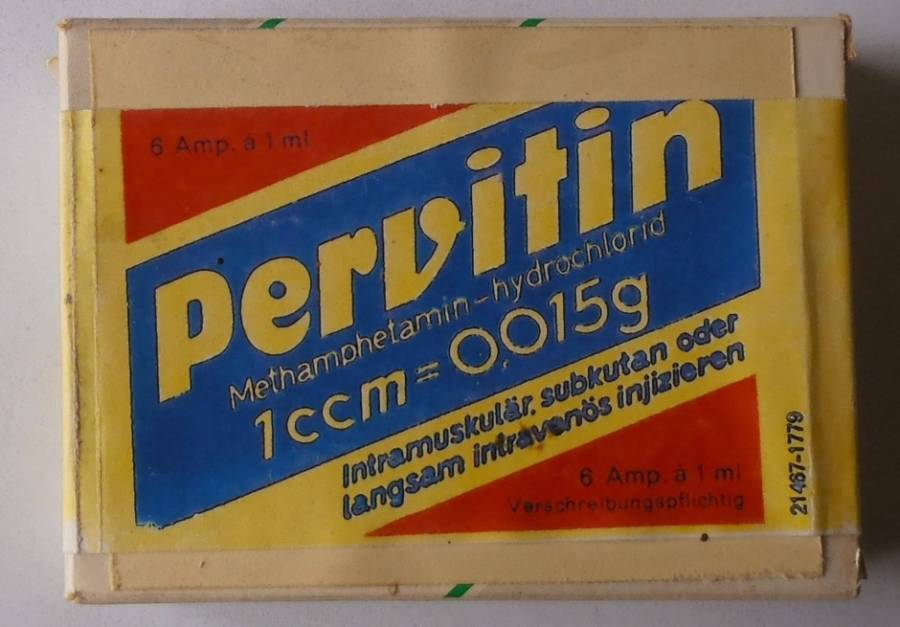 Pervitin Packaging