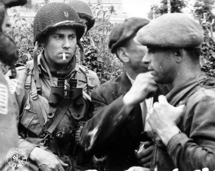 American Soldiers And French Resistance Members