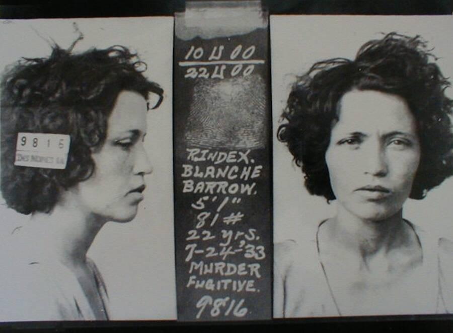 Blanche Barrow Mugshot