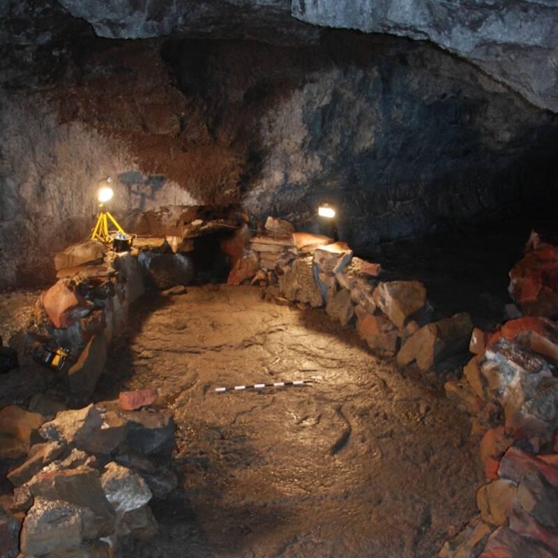 Boat Structure In Surtshellir Cave