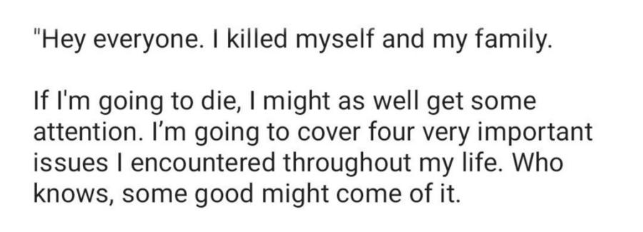 Farhan Suicide Note