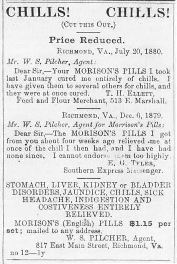 Morisons Pills 1880 Ad