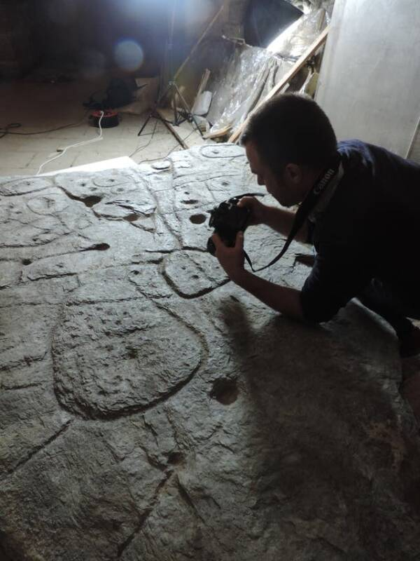 Photographing The Saint Belec Slab
