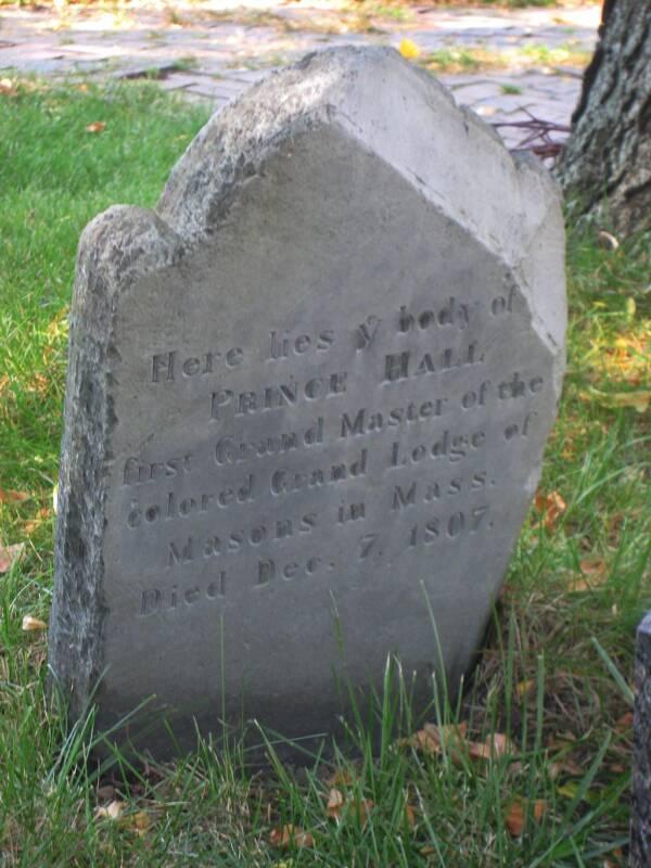 Prince Hall Tombstone