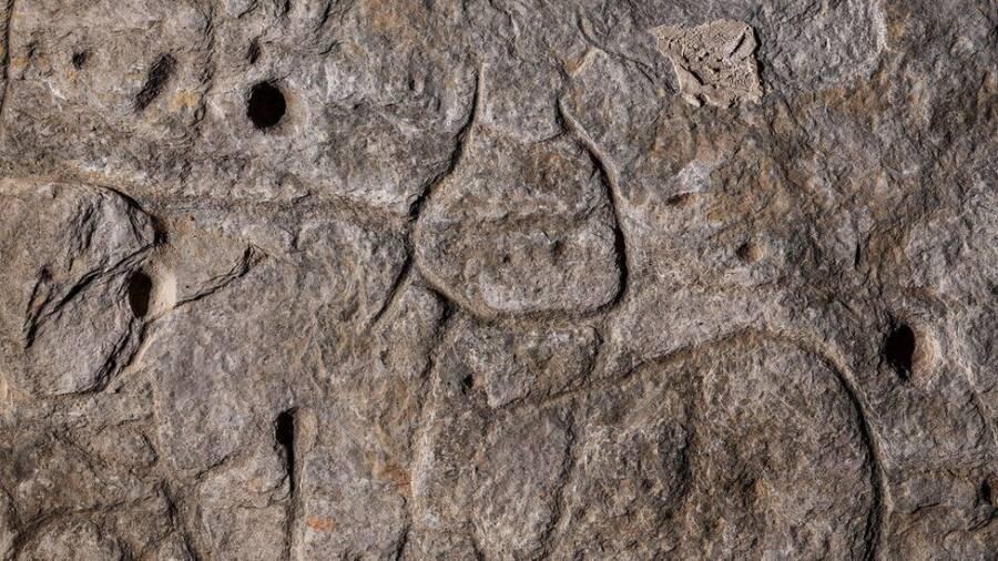 Saint Belec Slab Carvings