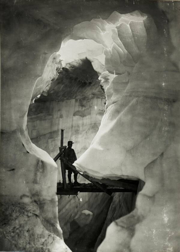 Austrian Soldier In Glacier