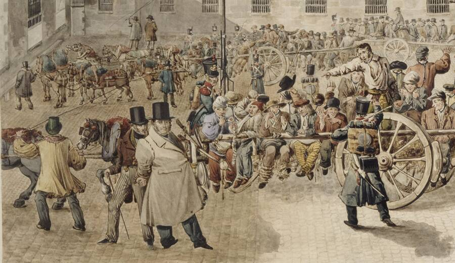 Convicts Chained At The Neck
