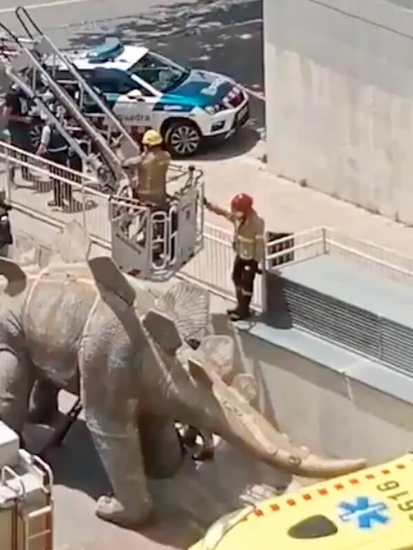 Dinosaur Statue Body Recovery Barcelona