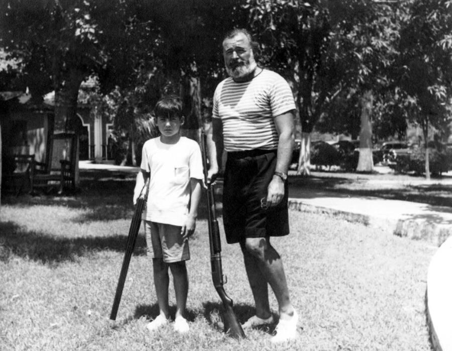 Ernest And Gregory Hemingway
