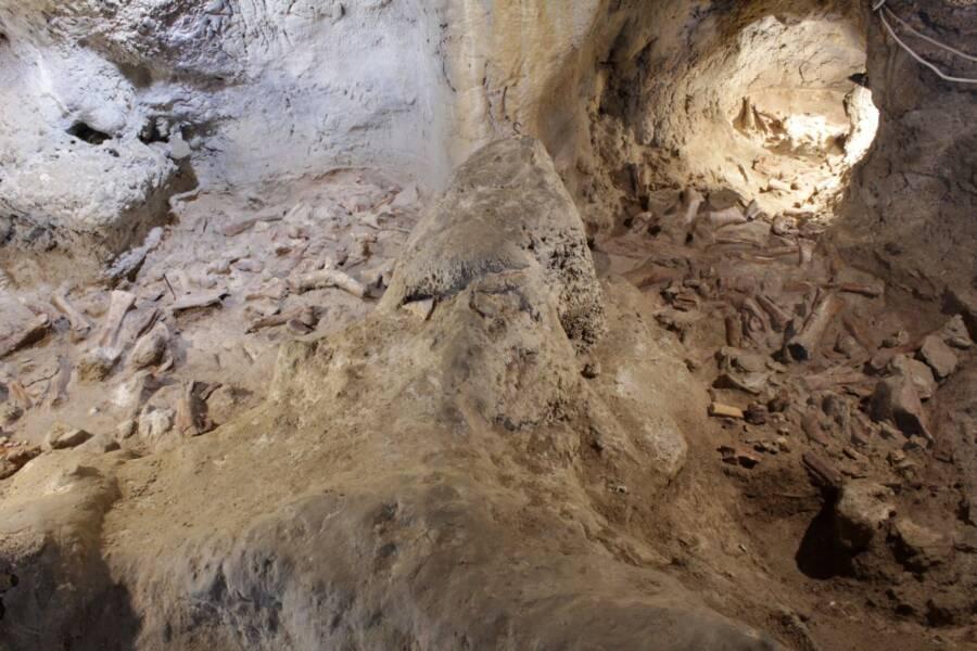 Inside Guattari Cave