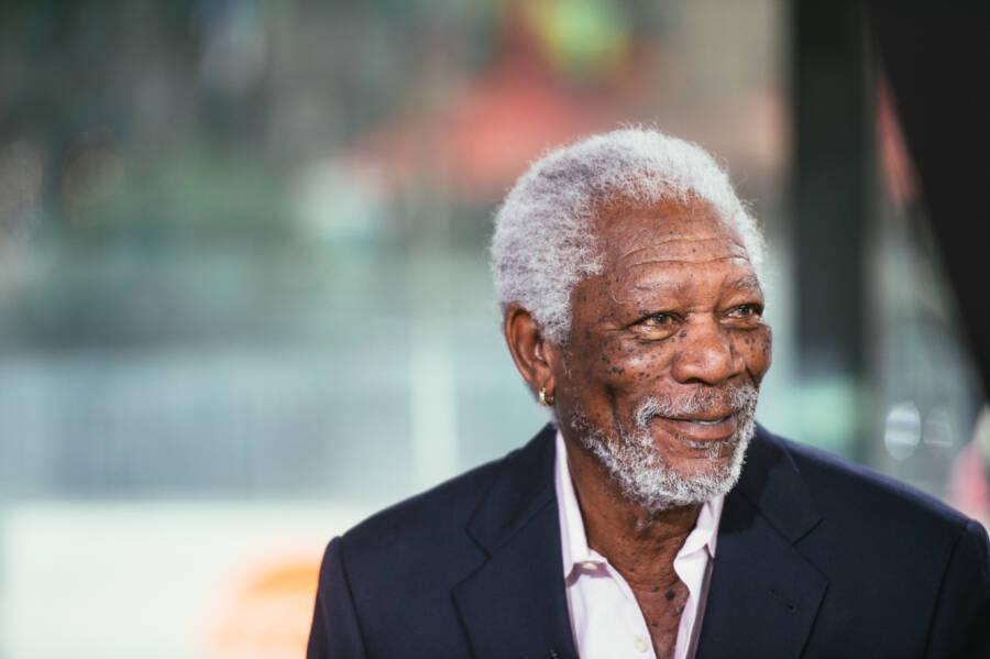 Morgan Freeman Wearing A Suit