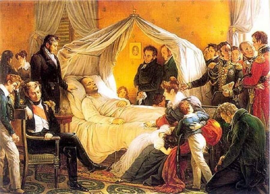 Napoleon On His Deathbed