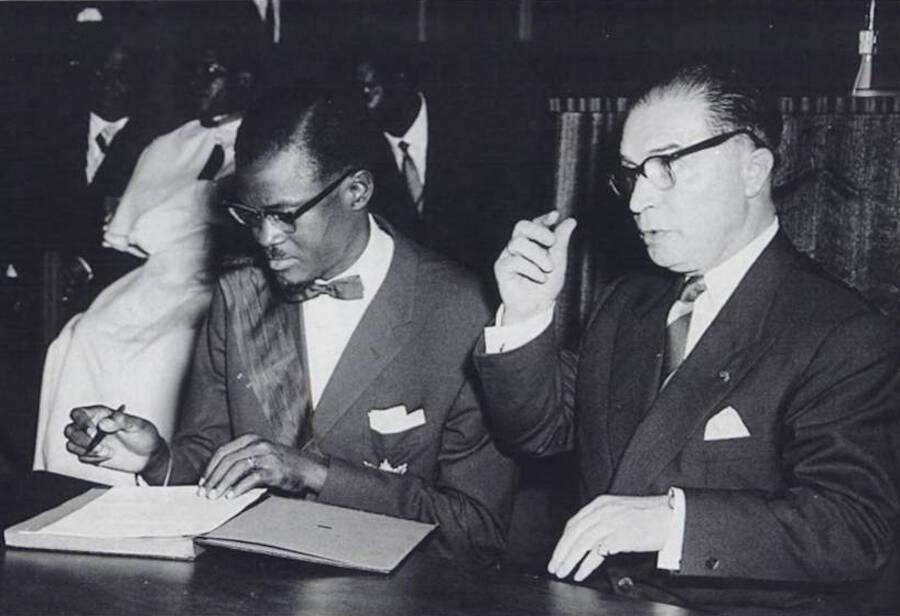 Patrice Lumumba And Gaston Eyskens