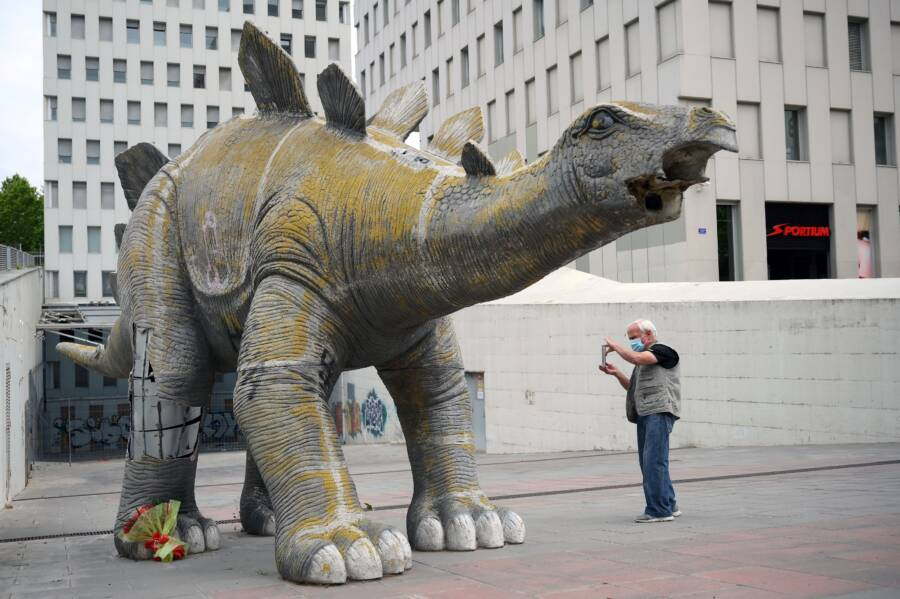 Santa Coloma De Gramenet Dinosaur Statue