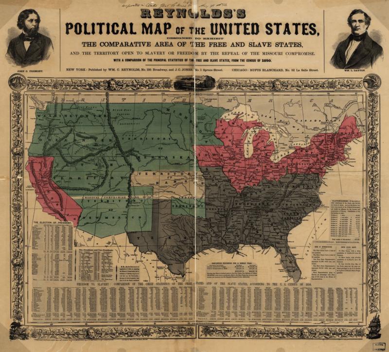 American Slavery Map