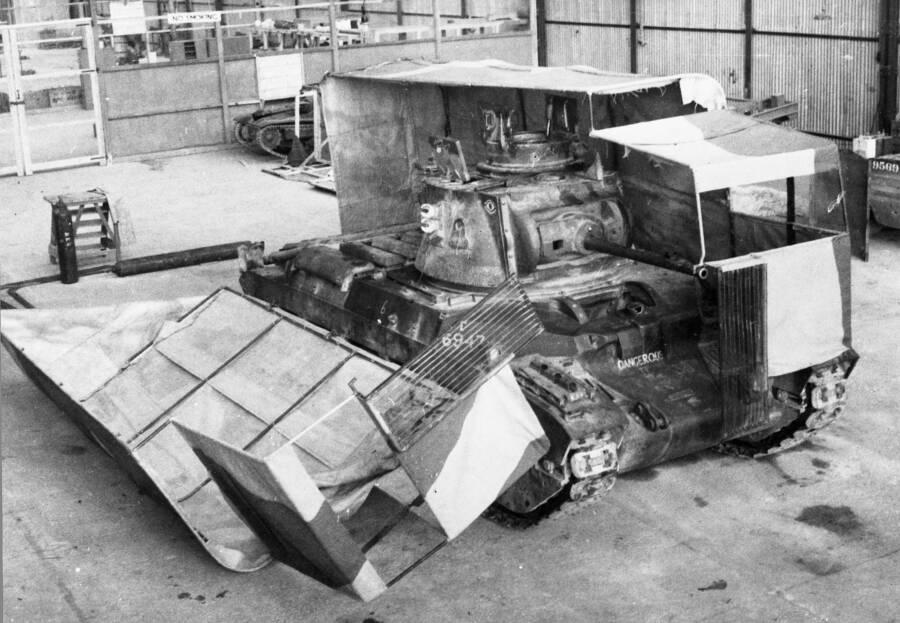 Sunshield Mounted On Tank