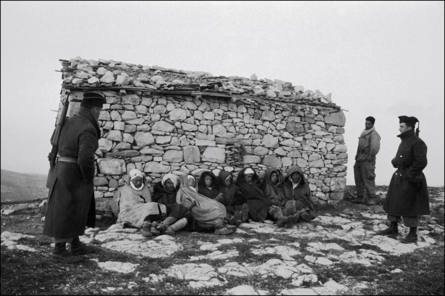 Algerian Prisoners Of War Against Wall