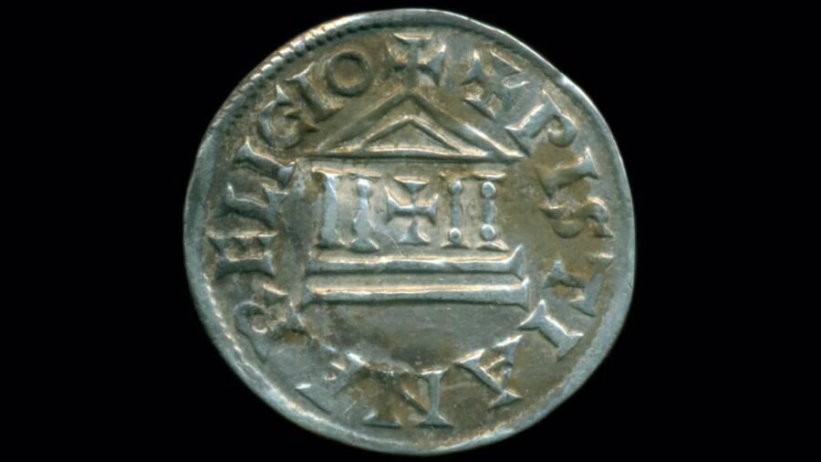 Back Side Of Silver Biskupiec Coin