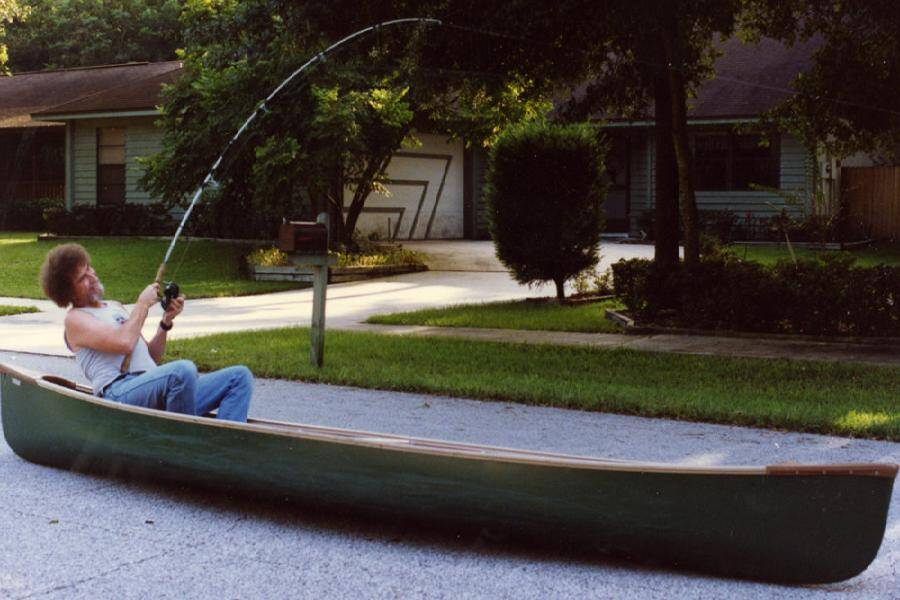 Bob Ross In A Canoe