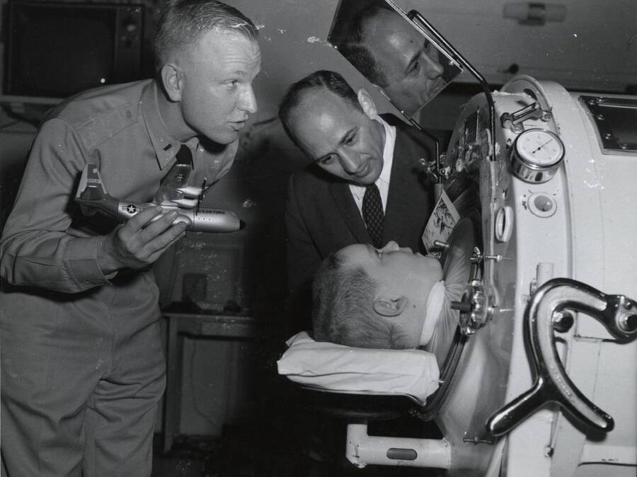 Child In Iron Lung