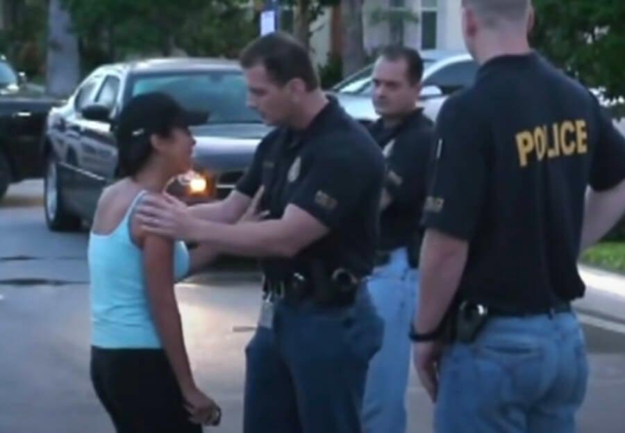 Police Stage Fake Crime Scene