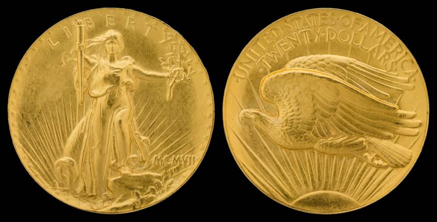 Double Eagle Coin Both Sides