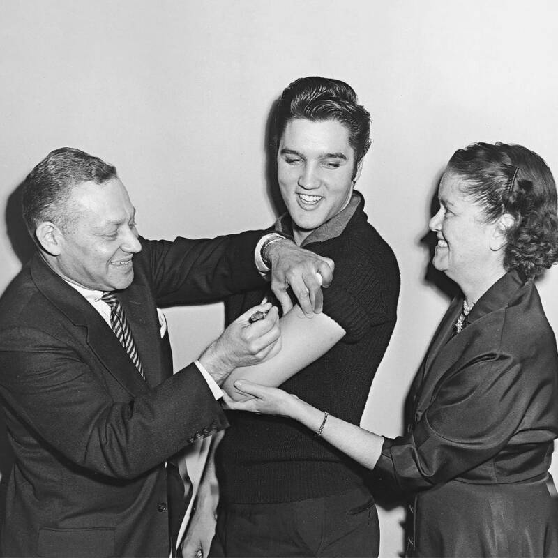 Elvis Presley Getting The Polio Vaccine