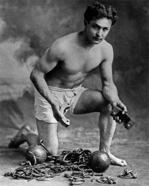Harry Houdini In Black And White