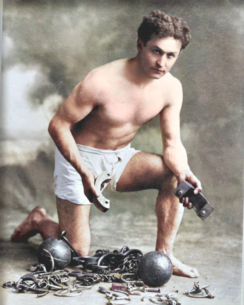 Harry Houdini Colorized Portraits