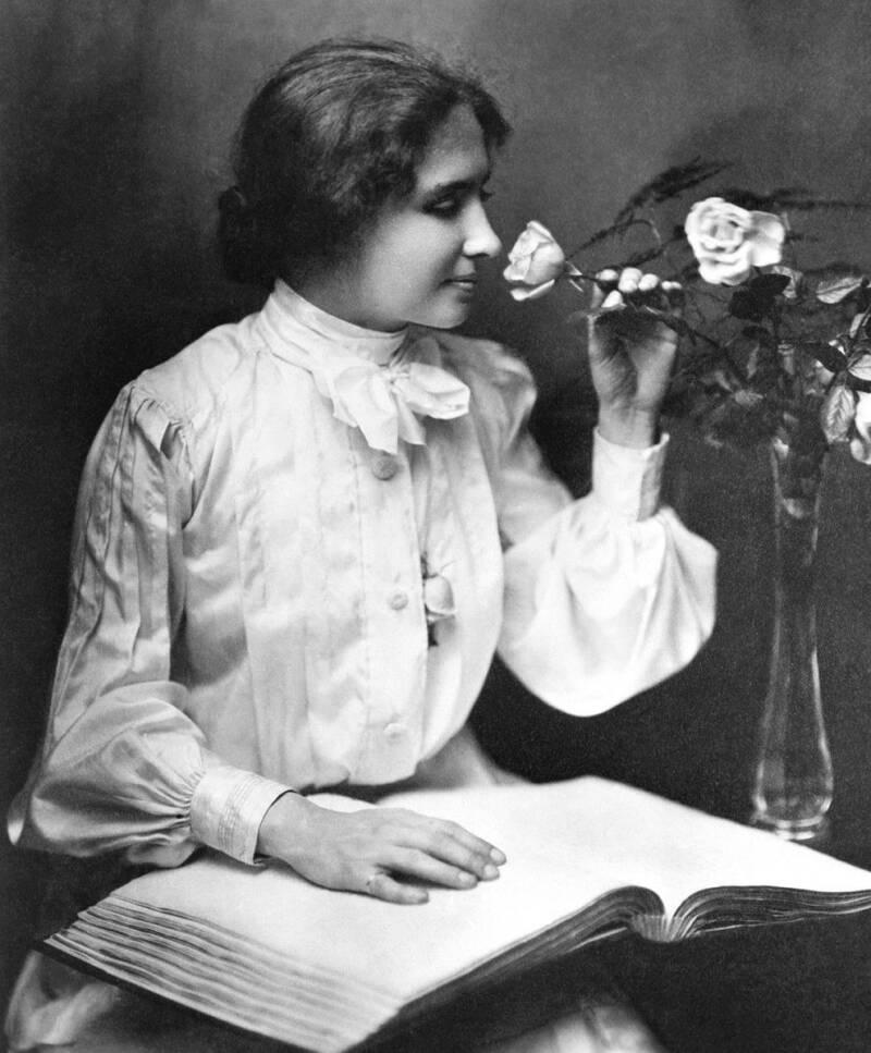 Helen Keller In Black And White