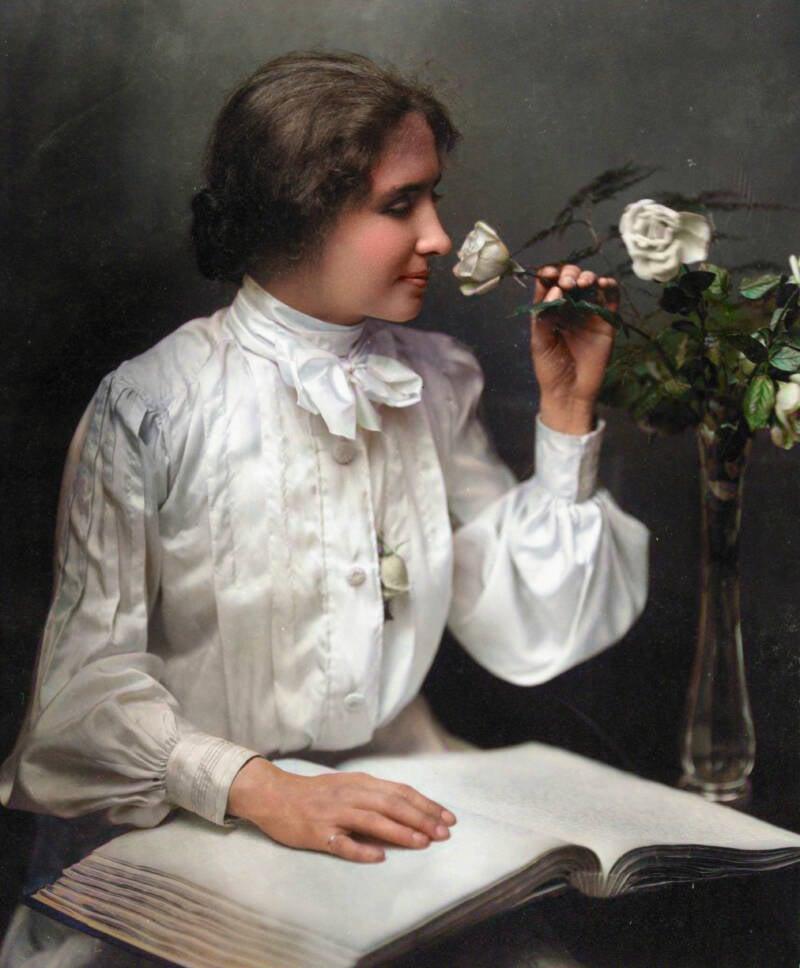 Helen Keller Colorized Portraits