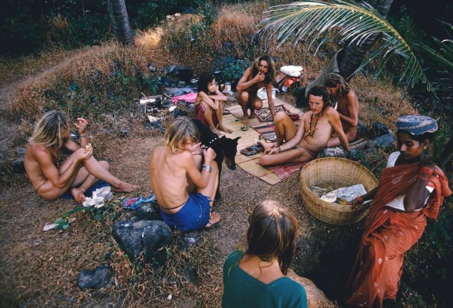 Hippies At Vagator Beach
