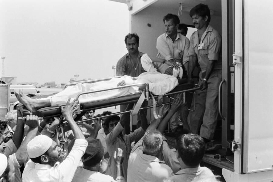 Injured Pan Am Flight 73 Victim