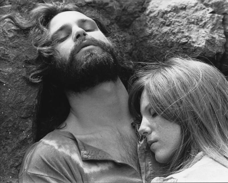Jim Morrison And His Girlfriend Pamela Courson